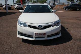 2014 Toyota Camry ASV50R Atara SL Diamond White 6 Speed Sports Automatic Sedan.