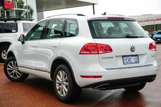 2014 Volkswagen Touareg 7P MY15 150TDI Tiptronic 4MOTION White 8 Speed Sports Automatic Wagon.