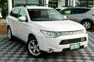 2013 Mitsubishi Outlander ZJ MY13 Aspire 4WD White 6 Speed Sports Automatic Wagon.