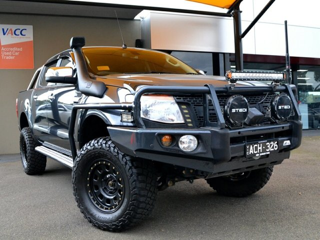 Used Ford Ranger PX XLT Double Cab Fawkner, 2015 Ford Ranger PX XLT Double Cab Grey 6 Speed Manual Utility