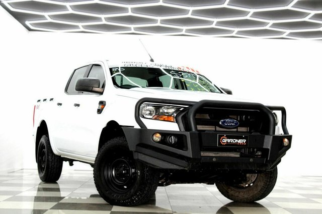 Used Ford Ranger PX MkII MY18 XL 2.2 (4x4) Burleigh Heads, 2017 Ford Ranger PX MkII MY18 XL 2.2 (4x4) White 6 Speed Automatic Crew Cab Utility