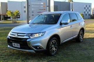 2015 Mitsubishi Outlander ZK MY16 XLS 4WD Silver 6 Speed Sports Automatic Wagon.