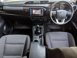 2017 Toyota Hilux TGN121R Workmate Double Cab 4x2 White 5 Speed Manual Utility