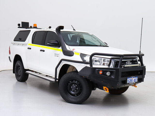 Used Toyota Hilux GUN126R MY17 SR (4x4), 2018 Toyota Hilux GUN126R MY17 SR (4x4) White 6 Speed Automatic Dual Cab Utility