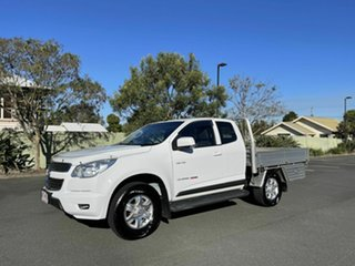 2013 Holden Colorado RG MY14 LX White 6 Speed Automatic Spacecab.