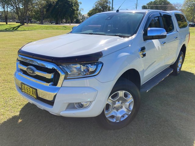Used Ford Ranger PX MkII MY17 XLT 3.2 Hi-Rider (4x2) South Grafton, 2016 Ford Ranger PX MkII MY17 XLT 3.2 Hi-Rider (4x2) White 6 Speed Automatic Crew Cab Pickup
