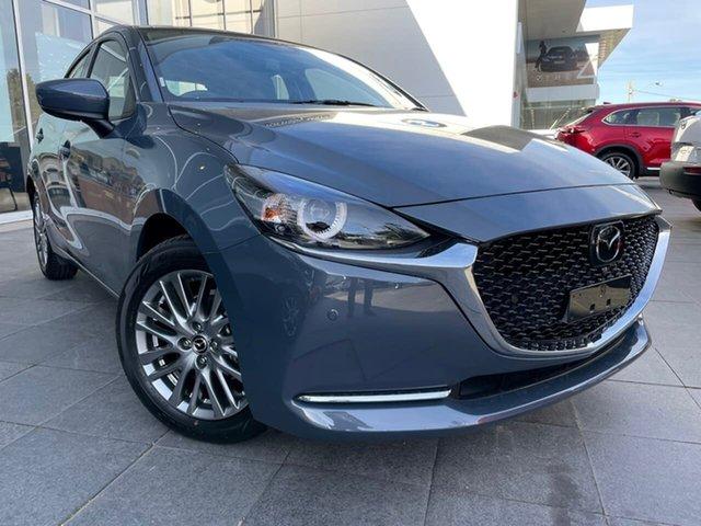 New Mazda 2 DJ2HAA G15 SKYACTIV-Drive GT Waitara, 2021 Mazda 2 DJ2HAA G15 SKYACTIV-Drive GT Grey 6 Speed Sports Automatic Hatchback
