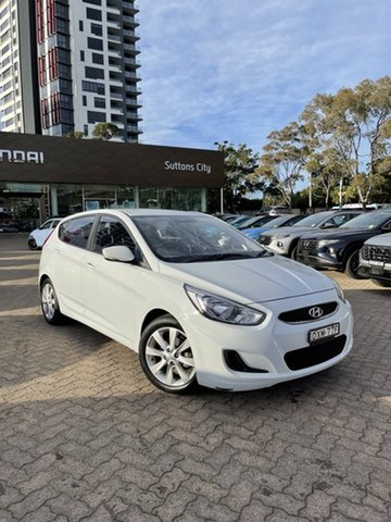 Used Hyundai Accent RB6 MY19 Sport Rosebery, 2018 Hyundai Accent RB6 MY19 Sport White 6 Speed Automatic Hatchback