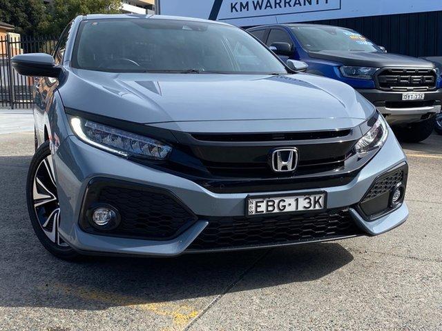 Used Honda Civic 10th Gen MY19 VTi-LX Homebush, 2019 Honda Civic 10th Gen MY19 VTi-LX Grey 1 Speed Constant Variable Hatchback
