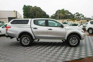 2017 Mitsubishi Triton MQ MY18 GLX+ Double Cab Silver 5 Speed Sports Automatic Utility.