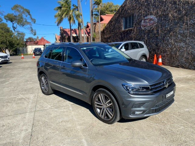 Pre-Owned Volkswagen Tiguan 5NA MY19 162 TSI Highline Mosman, 2018 Volkswagen Tiguan 5NA MY19 162 TSI Highline Grey 7 Speed Auto Direct Shift Wagon