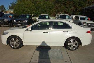 2012 Honda Accord Euro CU MY12 White 5 Speed Automatic Sedan.
