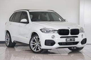 2014 BMW X5 F15 xDrive50i Alpine White 8 Speed Sports Automatic Wagon.