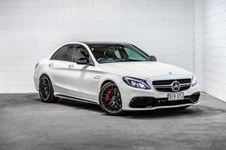 2016 Mercedes-Benz C-Class W205 807MY C63 AMG SPEEDSHIFT MCT S White 7 Speed Sports Automatic Sedan.