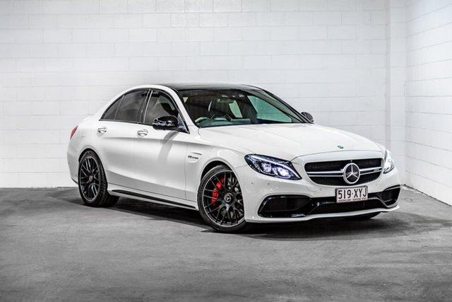 Used Mercedes-Benz C-Class W205 807MY C63 AMG SPEEDSHIFT MCT S Southport, 2016 Mercedes-Benz C-Class W205 807MY C63 AMG SPEEDSHIFT MCT S White 7 Speed Sports Automatic Sedan