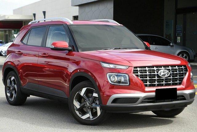 New Hyundai Venue QX.V3 MY21 Elite St Marys, 2021 Hyundai Venue QX.V3 MY21 Elite Fiery Red 6 Speed Automatic Wagon