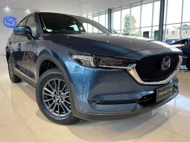 New Mazda CX-5 KF4WLA Touring SKYACTIV-Drive i-ACTIV AWD Waitara, 2021 Mazda CX-5 KF4WLA Touring SKYACTIV-Drive i-ACTIV AWD Blue 6 Speed Sports Automatic Wagon
