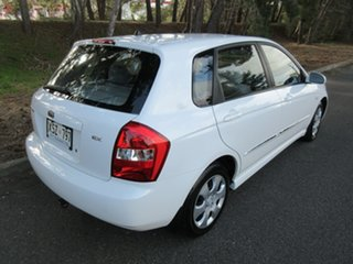 2008 Kia Cerato LD MY07 EX White 4 Speed Automatic Hatchback.