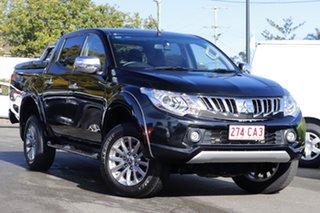 2015 Mitsubishi Triton MQ MY16 GLS Double Cab Black 5 Speed Sports Automatic Utility.