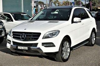 2015 Mercedes-Benz M-Class W166 MY805 ML350 BlueTEC 7G-Tronic + White 7 Speed Sports Automatic Wagon