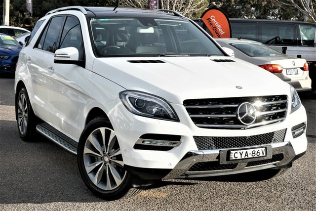 Used Mercedes-Benz M-Class W166 MY805 ML350 BlueTEC 7G-Tronic + Phillip, 2015 Mercedes-Benz M-Class W166 MY805 ML350 BlueTEC 7G-Tronic + White 7 Speed Sports Automatic Wagon