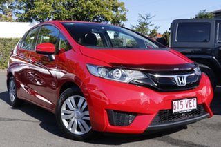 2014 Honda Jazz GF MY15 VTi Red 5 Speed Manual Hatchback.