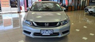 2014 Honda Civic 9th Gen Ser II MY13 VTi Silver 5 Speed Sports Automatic Sedan.