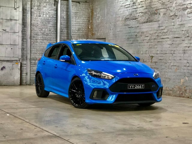 Used Ford Focus LZ RS AWD Mile End South, 2017 Ford Focus LZ RS AWD Blue 6 Speed Manual Hatchback