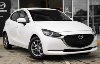 2021 Mazda 2 DJ2HAA G15 SKYACTIV-Drive Pure Snowflake White Pearl 6 Speed Sports Automatic Hatchback.