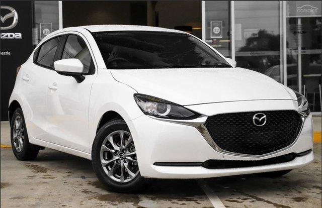Demo Mazda 2 DJ2HAA G15 SKYACTIV-Drive Pure Mornington, 2021 Mazda 2 DJ2HAA G15 SKYACTIV-Drive Pure Snowflake White Pearl 6 Speed Sports Automatic Hatchback