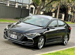 2016 Hyundai Elantra AD MY17 SR DCT Turbo Black 7 Speed Sports Automatic Dual Clutch Sedan.