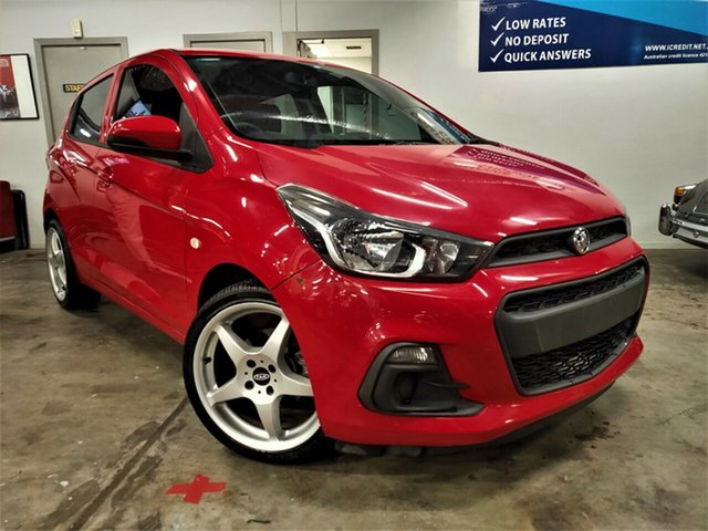 Used Holden Spark MP MY16 LS Ashmore, 2015 Holden Spark MP MY16 LS Red 1 Speed Constant Variable Hatchback