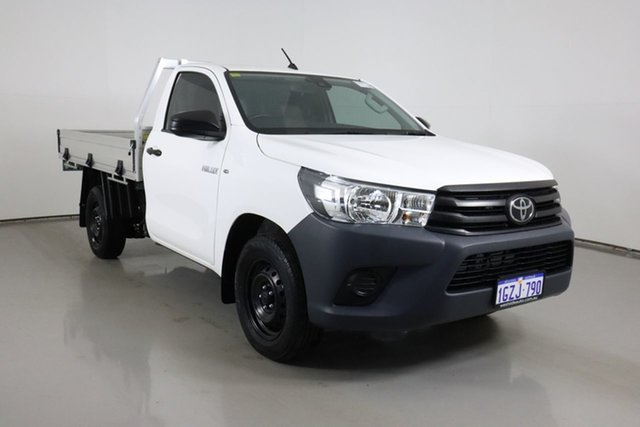 Used Toyota Hilux TGN121R MY19 Workmate Bentley, 2019 Toyota Hilux TGN121R MY19 Workmate White 6 Speed Automatic Cab Chassis
