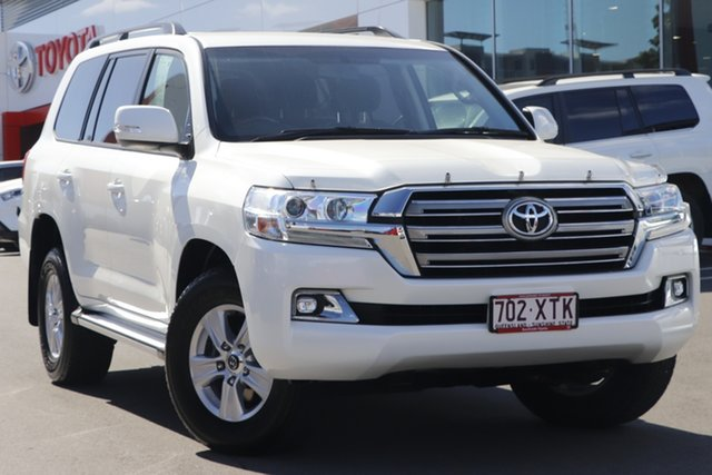 Pre-Owned Toyota Landcruiser VDJ200R GXL Woolloongabba, 2017 Toyota Landcruiser VDJ200R GXL Crystal Pearl 6 Speed Sports Automatic Wagon