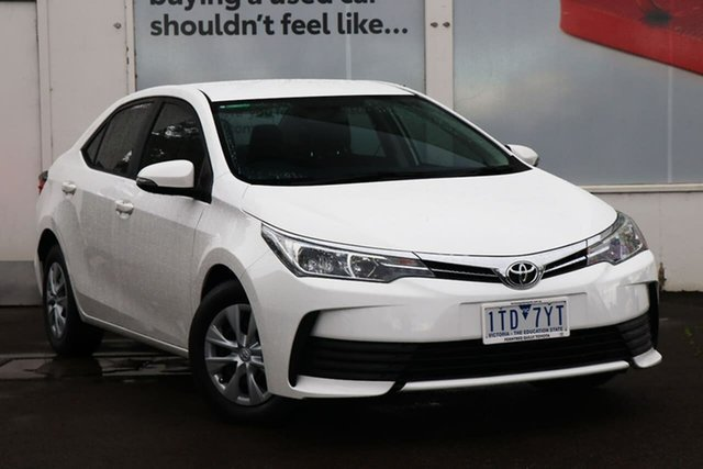 Pre-Owned Toyota Corolla ZRE172R Ascent S-CVT Ferntree Gully, 2018 Toyota Corolla ZRE172R Ascent S-CVT Glacier White 7 Speed Constant Variable Sedan