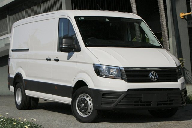 Demo Volkswagen Crafter SY1 MY20 50 MWB TDI410 Indooroopilly, 2020 Volkswagen Crafter SY1 MY20 50 MWB TDI410 Candy White 8 Speed Automatic Van