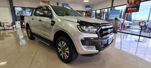 Pre-Owned Ford Ranger PX MkII 2018.00MY Wildtrak Double Cab Wonthaggi, 2018 Ford Ranger PX MkII 2018.00MY Wildtrak Double Cab Silver 6 Speed Sports Automatic Utility