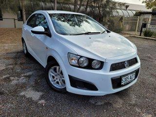 2013 Holden Barina TM MY14 CD White 6 Speed Automatic Sedan.
