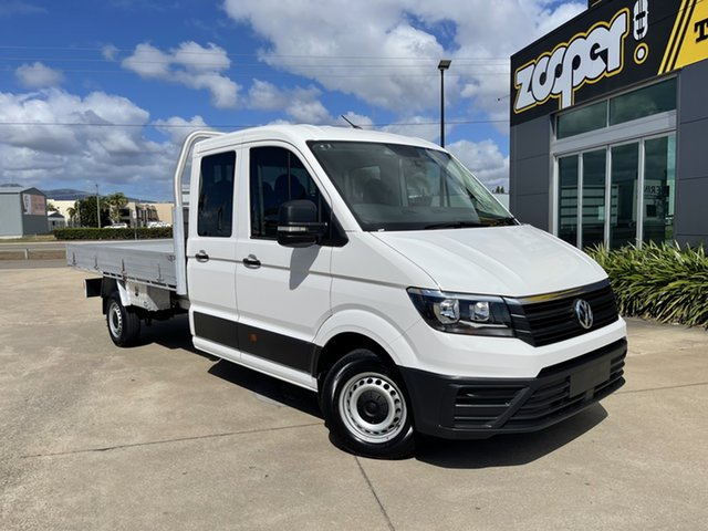 Used Volkswagen Crafter SY1 MY19 35 LWB FWD TDI410 Townsville, 2018 Volkswagen Crafter SY1 MY19 35 LWB FWD TDI410 White/260619 8 Speed Automatic Cab Chassis