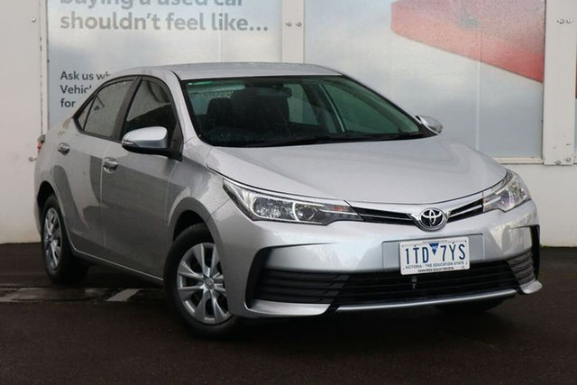 Pre-Owned Toyota Corolla ZRE172R Ascent S-CVT Ferntree Gully, 2018 Toyota Corolla ZRE172R Ascent S-CVT Silver Ash 7 Speed Constant Variable Sedan