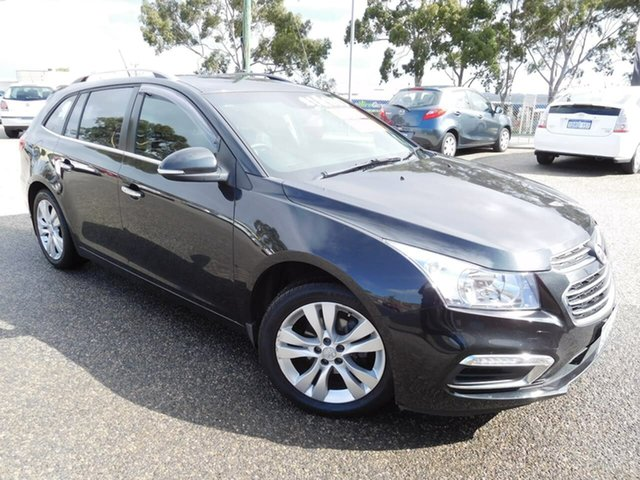 Used Holden Cruze JH Series II MY16 CDX Sportwagon Wangara, 2016 Holden Cruze JH Series II MY16 CDX Sportwagon Black 6 Speed Sports Automatic Wagon