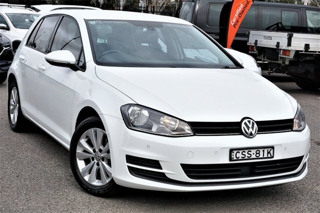 Used Volkswagen Golf VII MY14 90TSI DSG Comfortline Phillip, 2014 Volkswagen Golf VII MY14 90TSI DSG Comfortline White 7 Speed Sports Automatic Dual Clutch