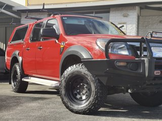 2010 Ford Ranger PK XL Crew Cab 4x2 Red 5 Speed Automatic Utility.