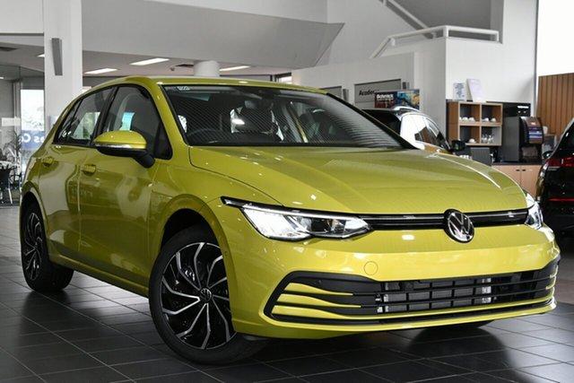 New Volkswagen Golf 8 MY21 110TSI Life Victoria Park, 2021 Volkswagen Golf 8 MY21 110TSI Life Pomelo Yellow 8 Speed Sports Automatic Hatchback