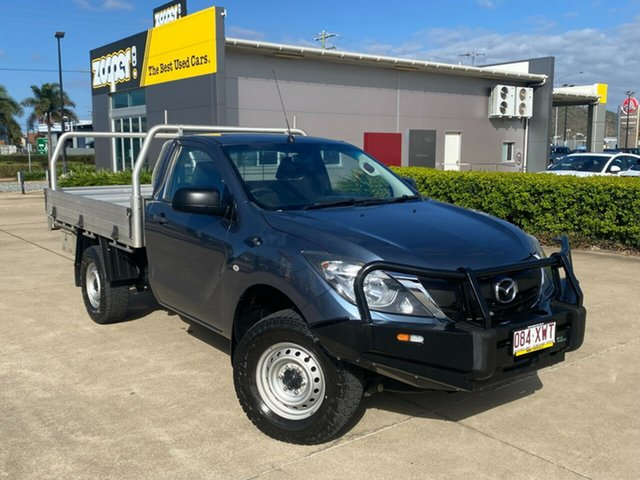 Used Mazda BT-50 UR0YG1 XT Townsville, 2017 Mazda BT-50 UR0YG1 XT Blue 6 Speed Sports Automatic Cab Chassis