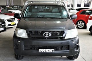 2010 Toyota Hilux TGN16R MY10 Workmate 4x2 Grey 5 Speed Manual Cab Chassis.