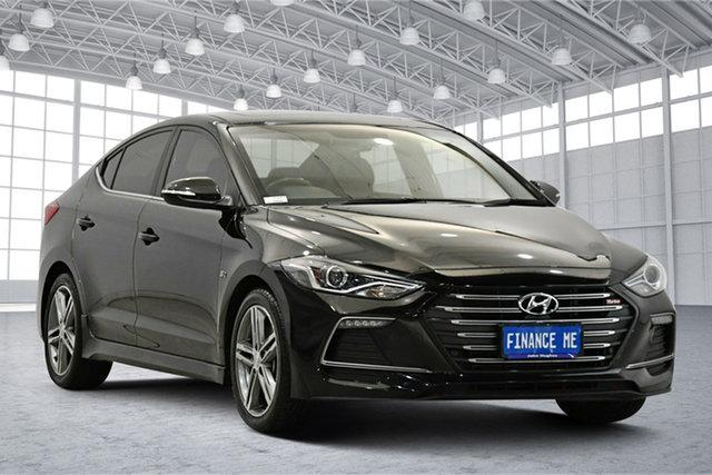 Used Hyundai Elantra AD MY18 SR DCT Turbo Victoria Park, 2018 Hyundai Elantra AD MY18 SR DCT Turbo Black 7 Speed Sports Automatic Dual Clutch Sedan