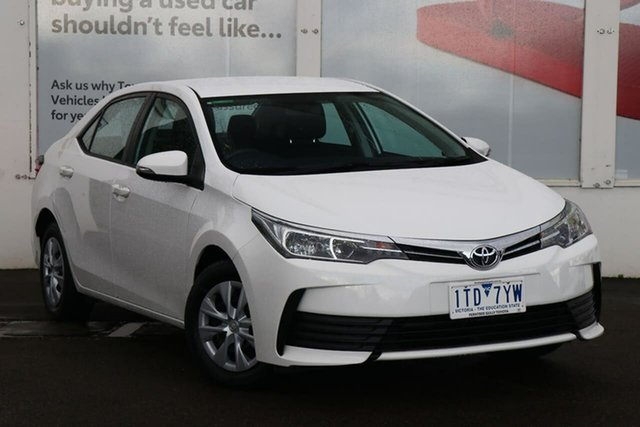 Pre-Owned Toyota Corolla ZRE172R Ascent S-CVT Ferntree Gully, 2016 Toyota Corolla ZRE172R Ascent S-CVT Glacier White 7 Speed Constant Variable Sedan