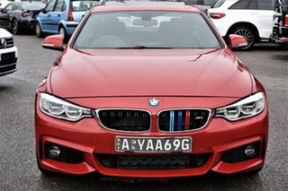 2014 BMW 4 Series F32 435i Red 8 Speed Sports Automatic Coupe.