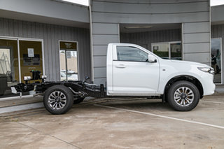 2021 Mazda BT-50 BT-50 B 6AUTO 3.0L SINGLE CHASSIS XT 4X2 Ice White Cab Chassis.